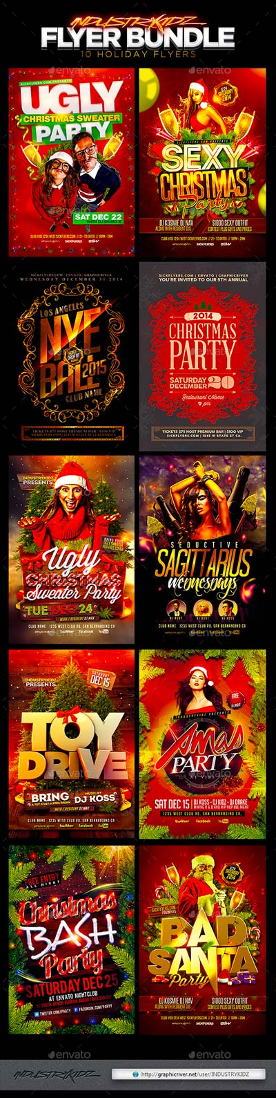 Christmas Holiday Flyer Bundle