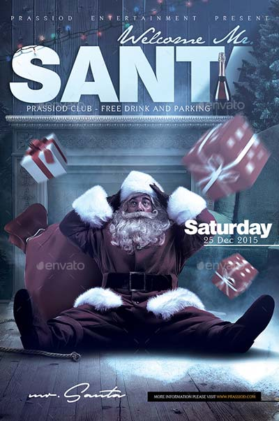 Welcome Mr. Santa Flyer Template