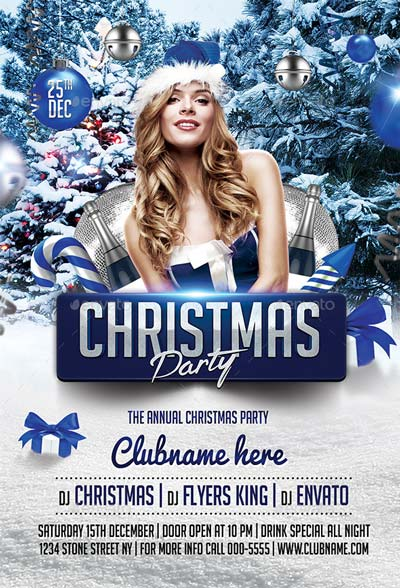 Christmas Party Flyer & Facebook V3