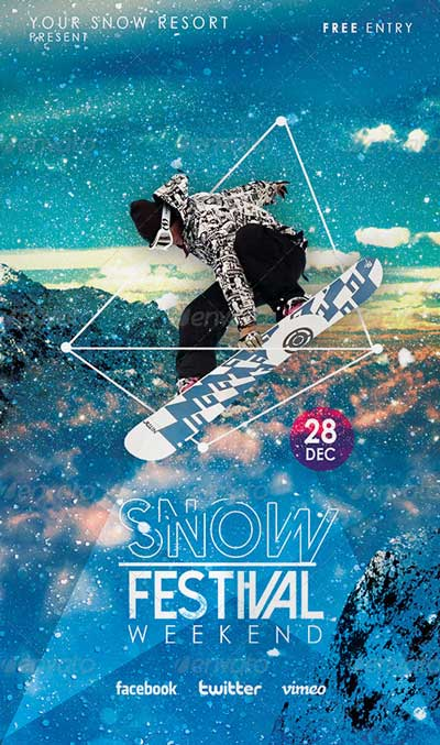 Winter Snow Festival Flyer