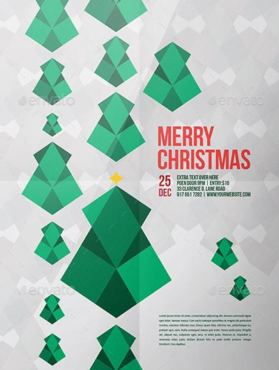 Modern Christmas Tree Flyer