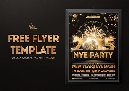 Top 30 New Year Flyer Templates Download PSD Flyer for Photoshop – New Year Poster Template