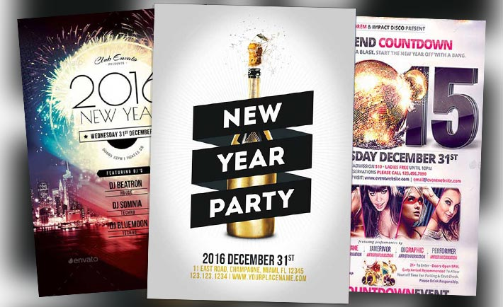 Top 30 New Year Flyer Templates of 2015