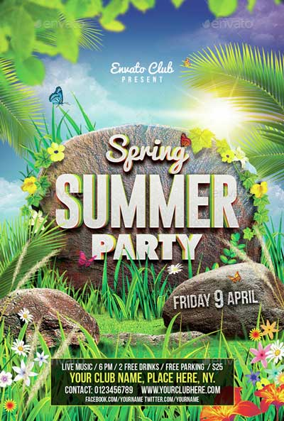 Spring Summer Party Flyer