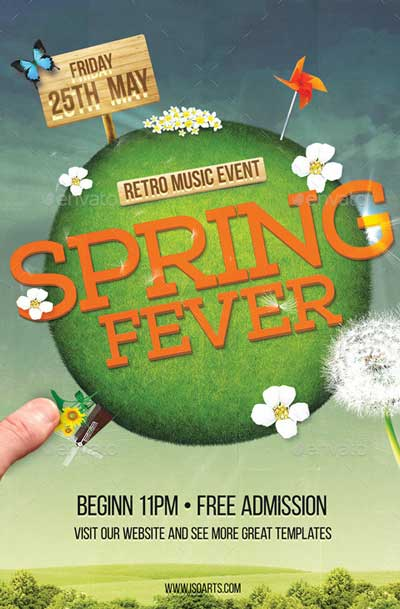 Spring Party Flyer - Spring Fever