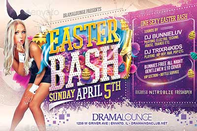 Easter & Spring Bash Flyer