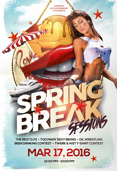 Spring Break Sessions Flyer