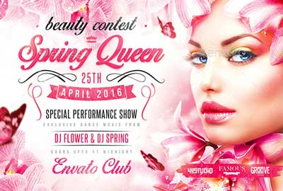 Spring Queen Party Flyer