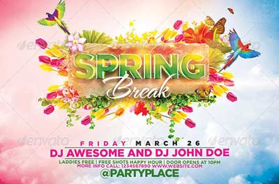 The Spring Break Flyer Template
