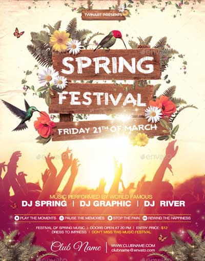 download top 50 spring flyer templates collection on