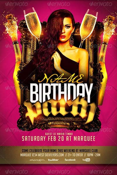 Birthday bash flyer templates download top 50 birthday flyer templates collection on flyersonar maxwellsz