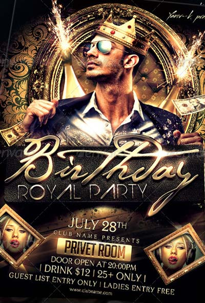 My Birthday Bachelor Party Invitation Flyersonar Top 50 Birthday Flyer Templates Collection