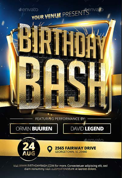 Birthday Bash Flyer v3