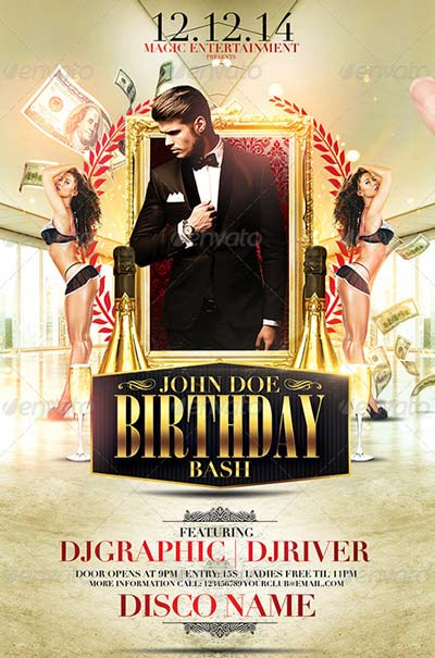 Classy Birthday Bash Flyer Template