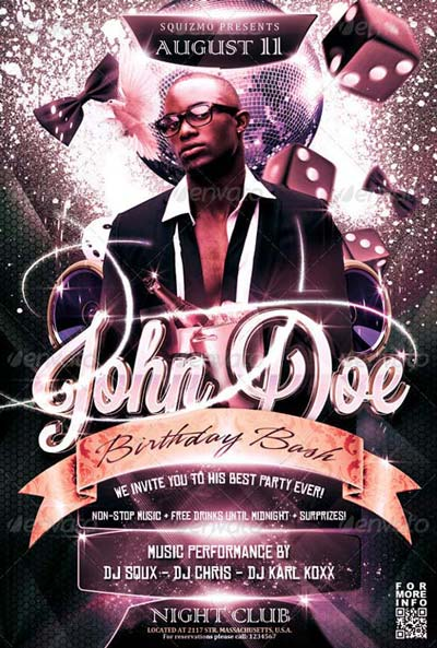 Birthday Bash Flyer Top 50 Birthday Flyer Templates