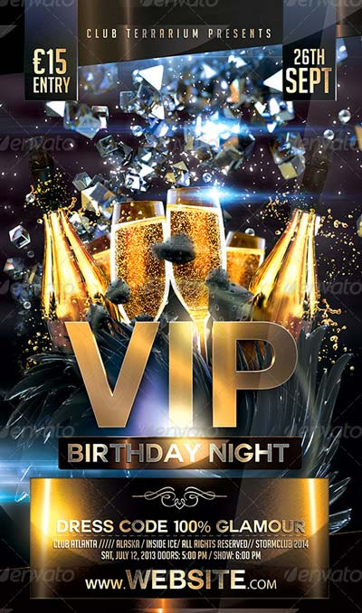 VIP Birthday Flyer