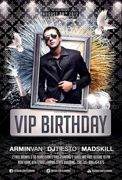 VIP Birthday Bash Flyer Top 50 Birthday Flyer Templates