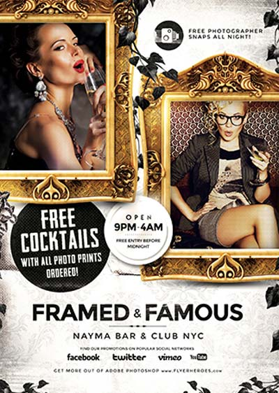 Framed and Famous Flyer Template