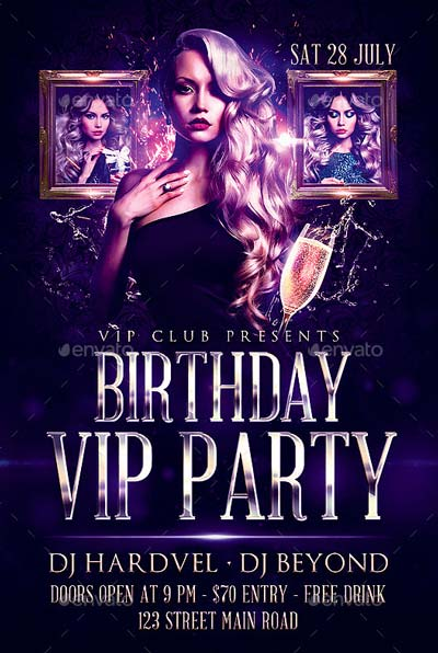 Birthday Flyer of the Top 50 Birthday Flyer Templates Collection
