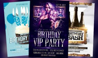 Download the best Top 50 Birthday Flyer Templates