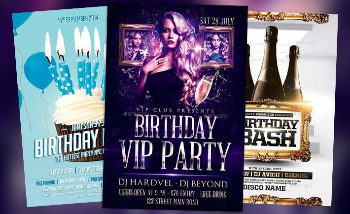 download the best birthday party flyer templates for photoshop