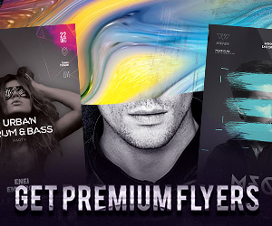 Download the best electro flyer templates for Photoshop