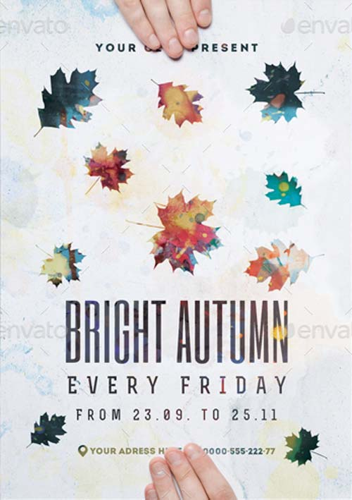 Bright Autumn Poster Template