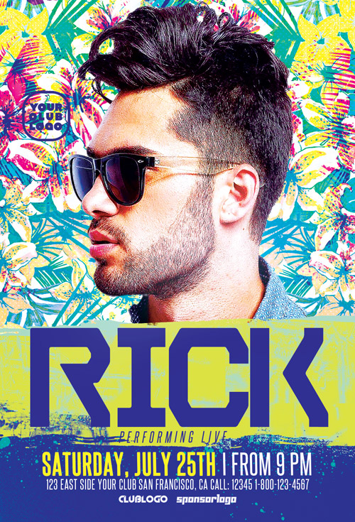 DJ Rick Club Party Flyer Template
