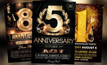 Top 25 Anniversary Flyer Templates Collection