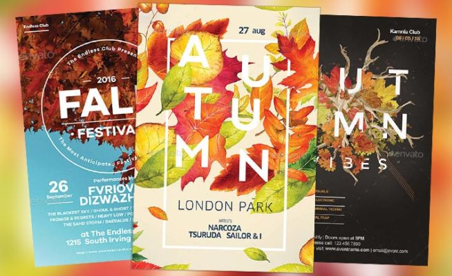 Top 25 Autumn Flyer Templates Collection