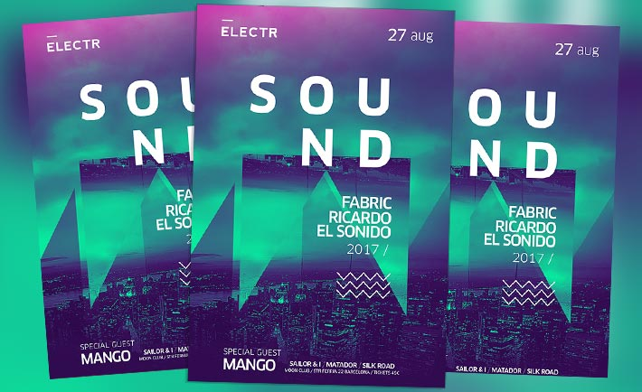 Electro Party Free Psd Flyer Template Free Download For Photoshop