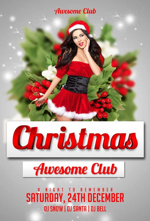 Christmas Flyer Template for Photoshop