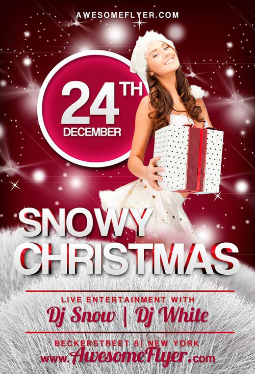 Snowy Christmas Flyer Template