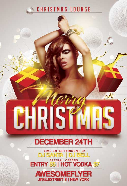Merry Xmas Flyer Template for Photohsop