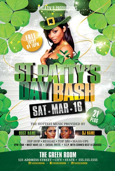 St. Patty's Day Bash Flyer Template