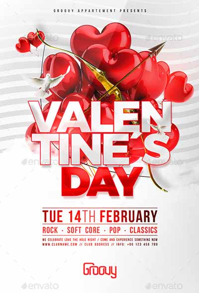 Valentine´s Day V1 Flyer Template