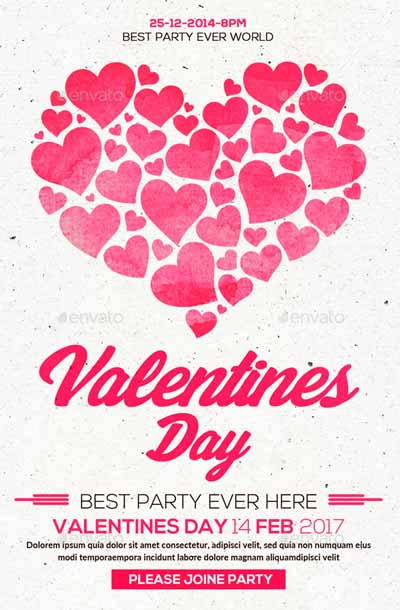 Valentines Flyer PSD Template