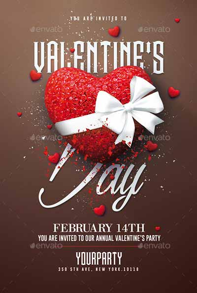 Valentine's Day Party PSD Template