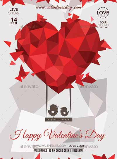 Valentines Day Lovers Flyer Template