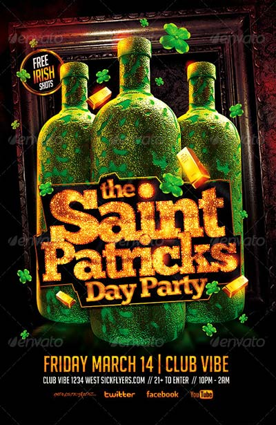 St. Patricks Day Party Flyer PSD