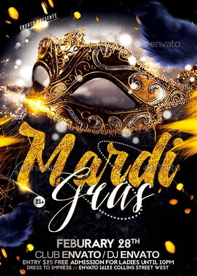 Mardi Gras Flyer - Template