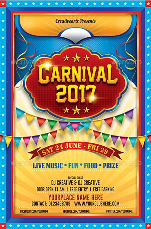 Carnival Flyer Bundle
