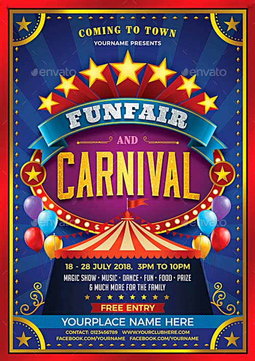 Top 30 Best Carnival Flyer Templates 2017 - Download PSD ...