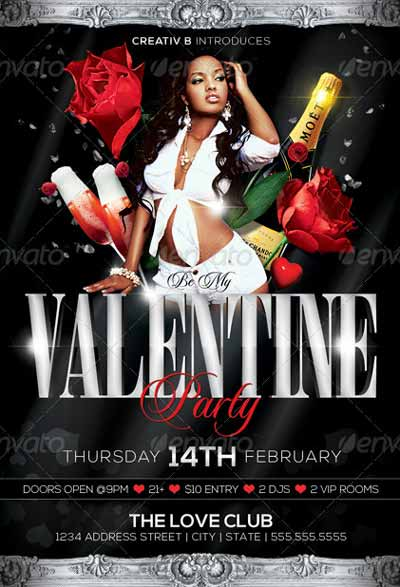 Valentine's Day Party Flyer Templates