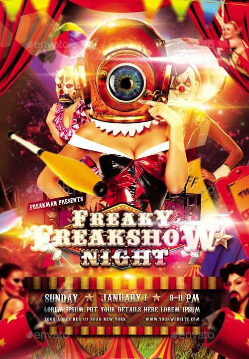 Carnival Freakshow Flyer