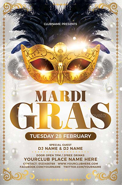 Mardi Gras/Carnival Flyer