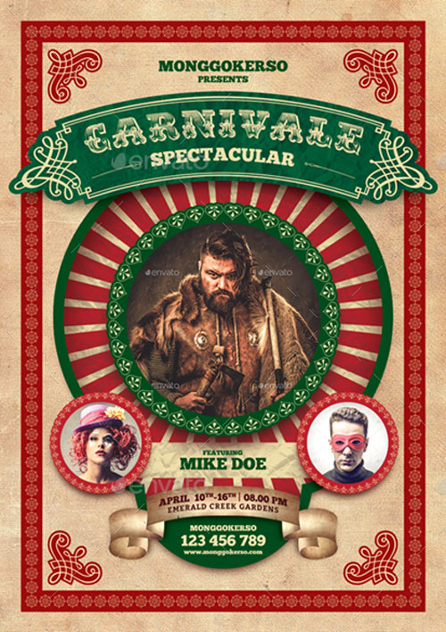 Carnival Flyer Template for Photoshop