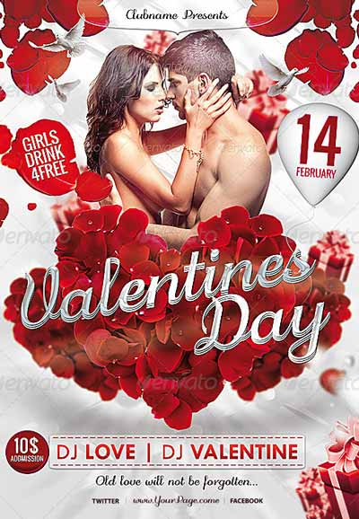 Valentine's Day Flyer Valentines Poster Template