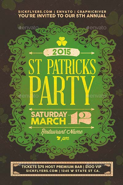 St Patricks Day Party Flyer & Invitation