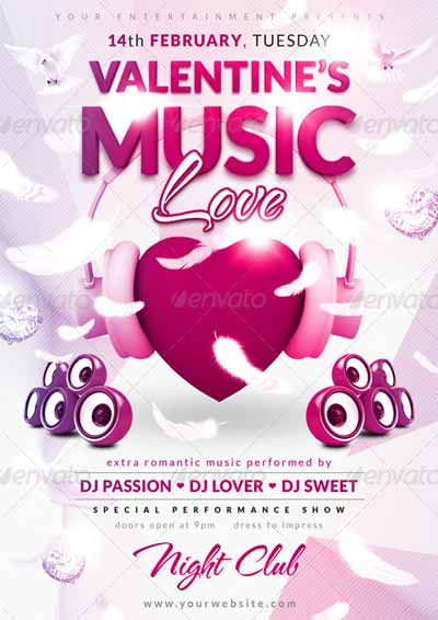 Love Music Flyer Template